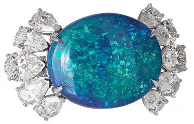 DAVID MORRIS - black opal - diamonds