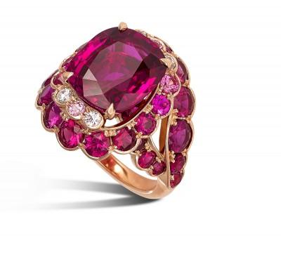 DAVID MORRIS - 7.13ct ruby - pink sapphires - diamondsRING-RUBY-11031056_G