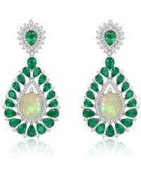 ANNOUSHKA--White-Gold-Sutra-Opal-Emeralds-Earrings
