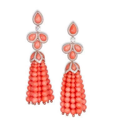 DAVID MORRIS - corail rose-diamants