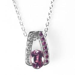 Pendentif Diamants - Rhodolites