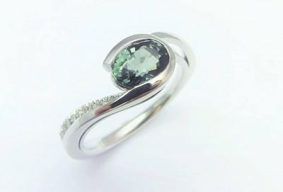 L'ATELIER JOAILLIER - saphirs-verts,-diamants
