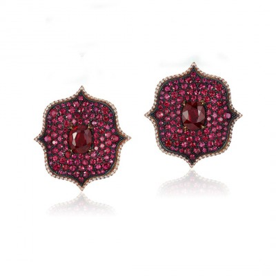BAYCO_monochrome_lotus_ruby_earrings