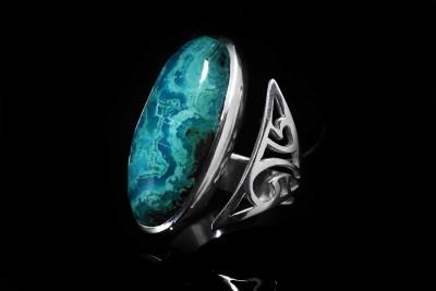 IRIATAI-bague-ouverte-malachite-turquoise-naturel-argent-motif-maori-oceanie-unique-sur mesure-iriatai-nc.JPG (6)