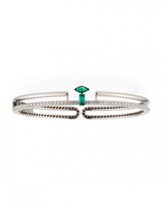 MISENO #emerald #diamonds #WhiteGold #Bracelet
