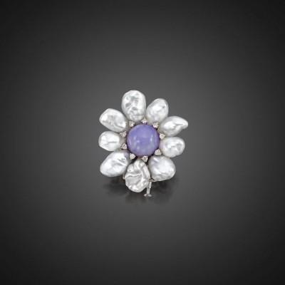 ASSAEL#LavenderJade#SouthSeaPearls#EaringsCorals##Diamonds#TGreenGarnetsTsavorites#Earrings