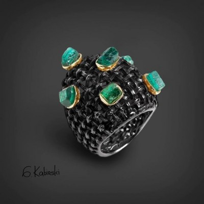 #GERMAN KABIRSKI #Emerald  #Emeraude #Bague
