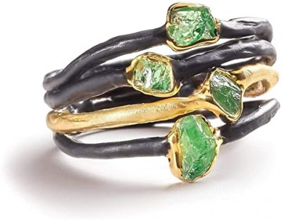 #GERMINA KABIRSKI #Ring #Green Garent #Tsavorite #Grenat Vert #Bague