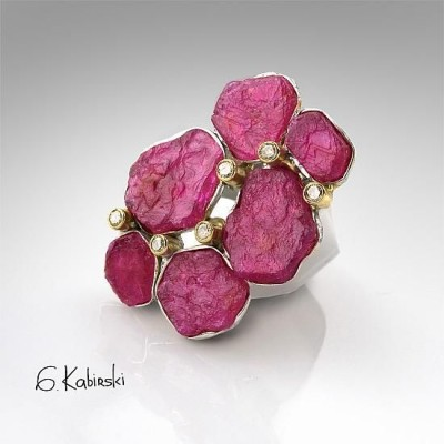#GERMAN KABIRSK #Ring #Ruby #Diamond #Rubis #Diamant