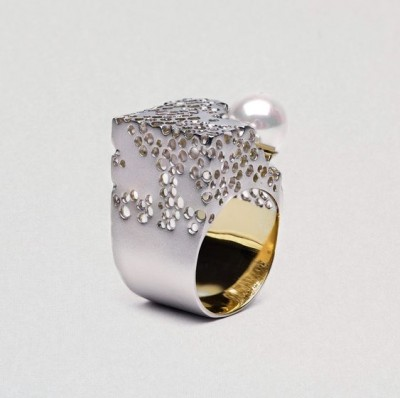#GERMINA KABIRSKI #Ring #pearl