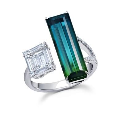 #GRAZIELA #Tourmaline #Ring #Diamonds