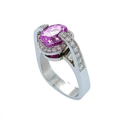 #JeanFrançoisAlbert #PinkSapphire #diamonds #ring