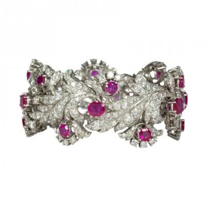#ENRICO SERAFINI #Bracelet #Rubies #Rubis #Emeraude #Diamonds #Diamant