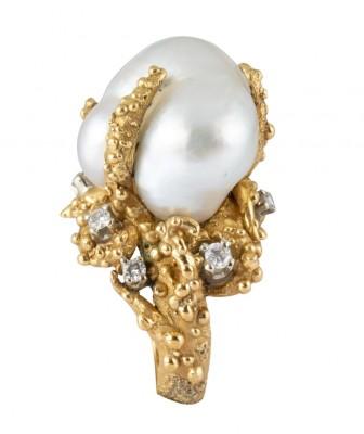 #ENRICO SERAFINI #Ring #Pearl #Diamonds #Bague #Perle Baroque #Saphir #Diamant #Rubis