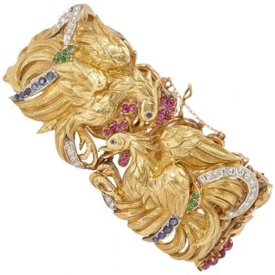 #SERAFINI #Animalier-Bracelet #Gold #Ruby #Emerald #Sapphire #Diamond #Emeraude #Saphir #Diamant