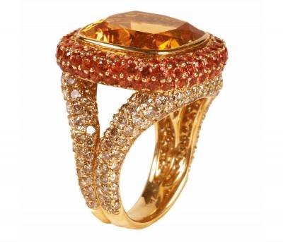 #SIFANI #Ring #Diamonds #Yellow Sapphires #Citrine