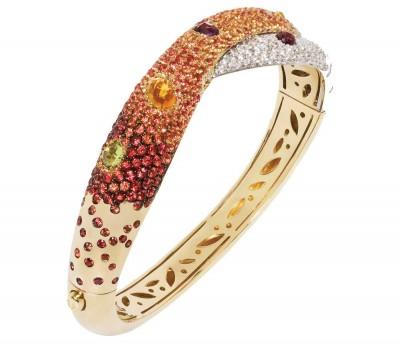 "#VALENTE #""Clash"" bracelet #sapphires #diamonds #18k gold"