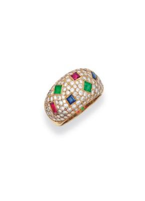 #HENNEL #Ruby #Emerald #Sapphire #Diamond #Gold #Ring