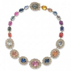 #SABBA #Multi-gem #Agate #Diamond #Necklace