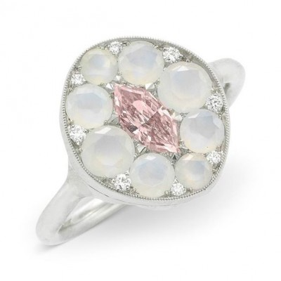 #SABBA #Ring #PinkDiamond #Agate