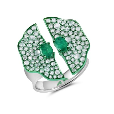#GRAZIELA #ring #emerald #bague #émeraude #diamond #diamant