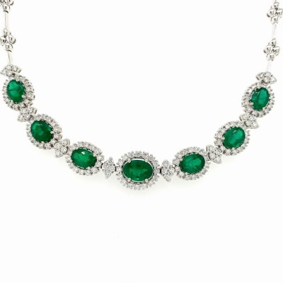 #PICO #Emerald #Diamond #Necklace #Collier #Pendentif #Diamants #Emeraude