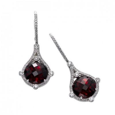 #PICO #Garnet #diamonds #Grenat #Earrings #Boucles d'oreille