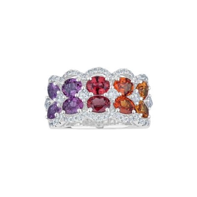 #PICO #Multi-Color Sapphire Rainbow Ring #diamonds #Diamants #Bague