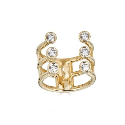 #PICO #Open Diamond Bezel Cuff Ring #Diamants #Bague