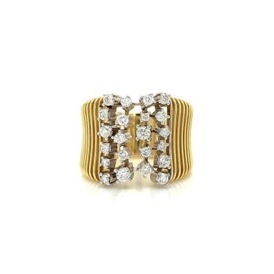 #PICO #Wide Diamond Sprinkle Ring #Diamants #Bague