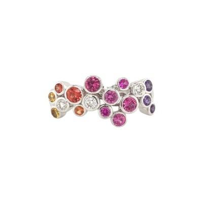 #Pico #Multi Color Sapphires # Bubble Ring #Multicolored sapphires #Saphirs multicolores #Diamant #Diamond #Bague