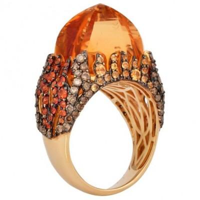 #SUNITA NAHATA #Citrine #Yellow sapphire #diamonds #Saphir jaune #Diamants