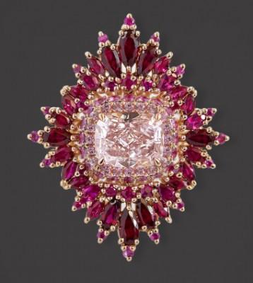 #MAGGI SIMPKINS #Ring #Pink Diamaond #Rubies #Pink sapphires #Diamant rose #Rubis #Saphirs roses