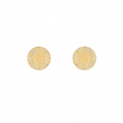 #NUUN #Earrings #gold #diamonds #Boucles d'oreilles #or jaune #Diamants