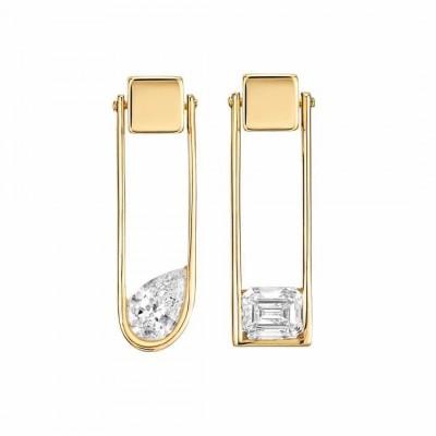 #NUUN #Earrings #yellow gold #diamonds #or jaune #diamants #Boucles d'oreilles
