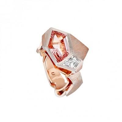 #NUUN #Origami Ring #gold #Morganite #diamond #diamant