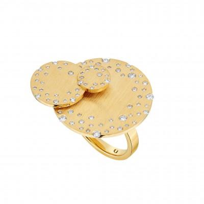 #NUUN #Ring #18 Kgold #diamonds #Bague #or jaune #Diamants