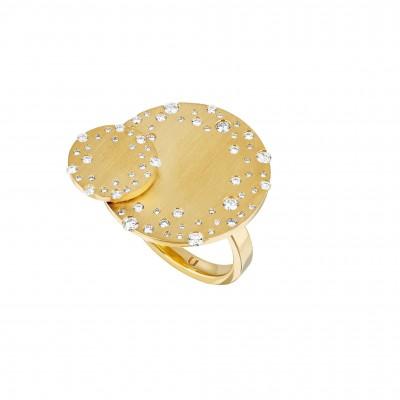#NUUN #Ring #gold #diamonds #Bague #or jaune#Diamants
