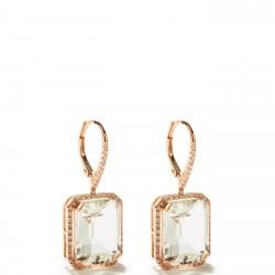 #SHAY #Earrings #White Topaz #Diamond #Topaze Blanche #Diamants #Boucles d'oreilles