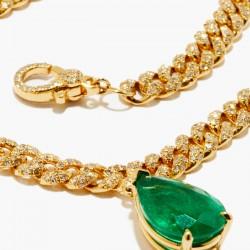 #SHAY #Necklace #Emerald #Diamonds #Emeraude #Diamants #Collier