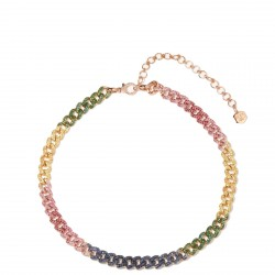 #SHAY #Necklace #sapphire #Pink Sapphire #Yellow sapphire #Diamonds #rose-gold necklace