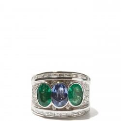 #SHAY #Ring #Emerald #Sapphire #Diamond #Emeraude #Saphir #Diamant
